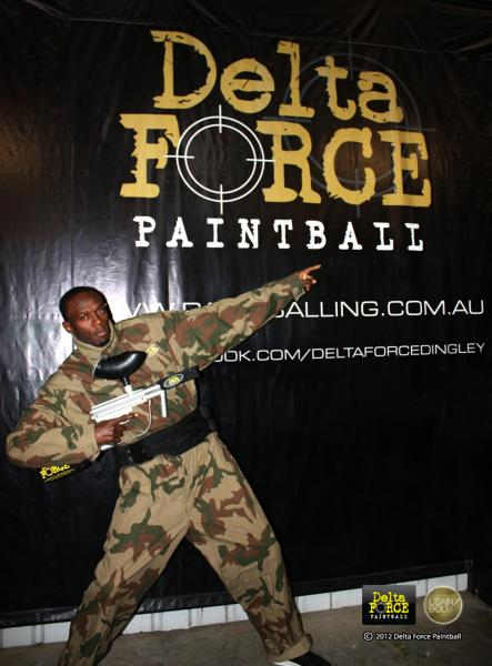 celebrity paintball players at Delta Force Paintball