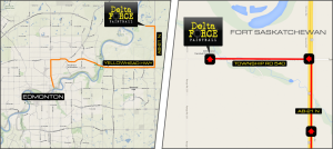 Delta Force Paintball Sherwood Park Location Map